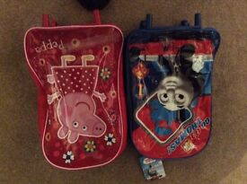 Wheel based Extendable handle Thomas and Peppa Pig cases