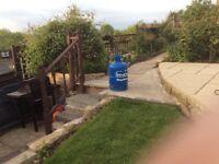 TWO EMPTY CALOR 15KG Butane Gas BOTTLES