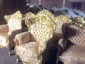Fabulous French rococo style 3piece suite
