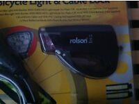 Rolson bicycle lights and bicycle bag