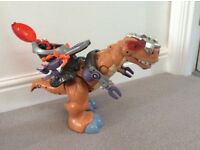 Fisher price Imaginex Mega TRex with sound and motion used but in great condition