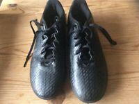 Black Astro turf boys trainers size 5.5