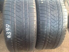 Winter tyres 285/45/19 x 2 - Pirelli Runflat/ touch stone tyres- unit 90 fleet road ig117bg