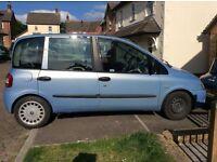 Fiat multipla 1.6 petrol spares or repairs