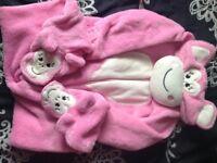 Girls Monkey sleepsuit aged 3-4yrs