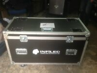 Selection of different size flight cases