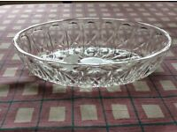 vintage reims glass candy/nut dish