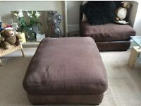 Chocolate brown sofa, large corner unit, from DFS, good quality
