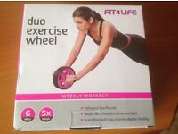 BRAND NEW, NEVER BEEN USED OR REMOVED FROM ITS ORIGINAL BOX - FIT4LIFE DUO EXERCISE WHEEL