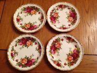 Royal Albert old country rose butter dishes