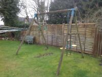 Wooden A frame swing set -FREE