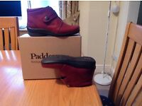 Padders unworn burgundy ankle boots E/EE fitting size 6.5