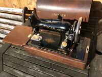 Vintage Singer electric sewing machine -Untested