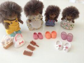 Sylvanian Families Hedgehog Family & Accssories