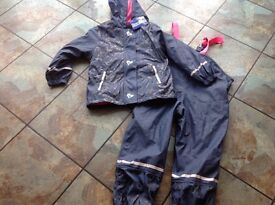 Brand new with tags girls waterproof jacket and trousers age 4-6