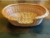 Wicker dog bed basket 76cm