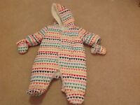 Baby snow suit up to 10lbs