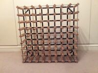 64 bottle pine and steel wine rack
