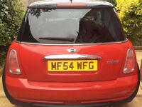 Mini Cooper 1.6 Automatic. Chilli red. 54 Plate Full black leather interior. 2 lady owners from new