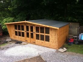 20x10 t&g summer house with canopy