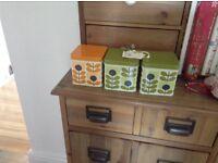 Orla kiely storage tins x 3 new