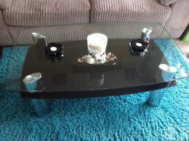 Glass coffee table from Harveys