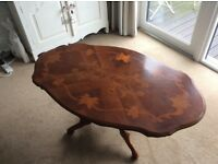 Antique wooden coffee table for sale.