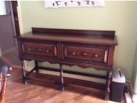 Antique oak side server