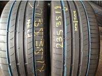 235/35/19 x 2 continental/ second hand tyres- open 7 days a week
