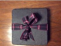 BRAND NEW Four Scottish Natural Slate Drinks Coasters