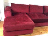 Large L corner settee. Sturdy custom made and modular
