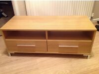 TV stand, 2 drawers and split shelf for console / DVD player