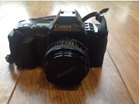 Immaculate Vintage Canon T70 50mm Camera with case