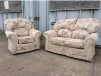 Rhea Beige 2 Seat Sofa + Armchair - Ex Display - £299 Including Free Local Delivery - RRP £510!