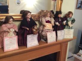 Full collection of little women dolls