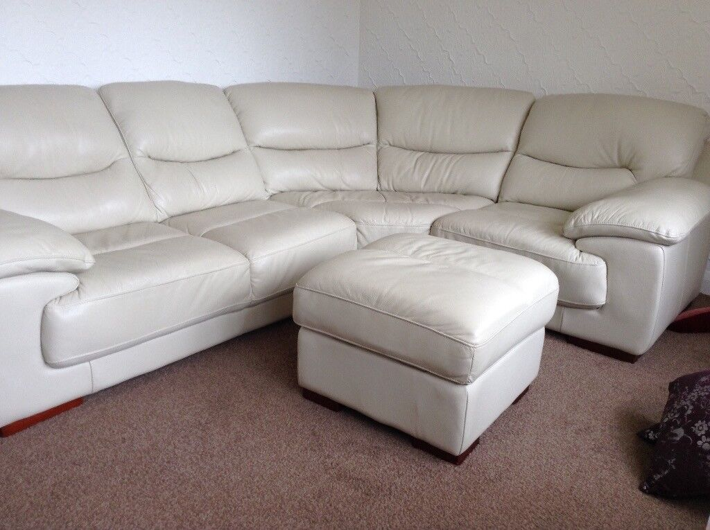 Large Corner Settee Chair And Pouffe In Barnsley South Yorkshire Gumtree