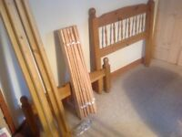 Single pine bed & Sweet Dreams mattress, good quality & condition