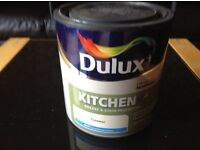 Unopened 2.5L can of Dulux Kitchen Matt Timeless For walls & ceilings