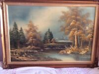 3 oil paintings Sussex artist ,mid 90 s ,great condition 600x500 ,500x400.400x500