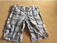 Superdry check shorts - real size extra large