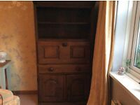 Solid hardwood bureau/bookcase