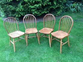 Four beautiful vintage farmhouse dining chairs