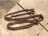 4.7O METRE LONG HEAVY DUTY CHAIN WITH HOOK AND PIN