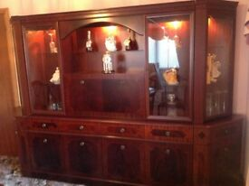 Mahogany Large Display Cabinet