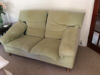 2 seater and 3 seater sofas plus foot stool