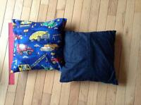 2 x truck cushions for boy room - price is for both cushions