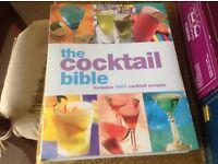 Cocktail recipe book.