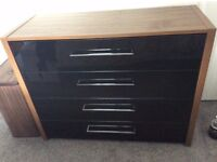chest of drawers and bedside table, matching set