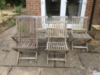 Garden chairs wooden x 6