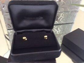 Genuine Tiffany gold studs